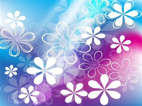 cute flowers vector background