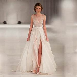 high end can be tailored a line wedding dresses sheer neck With wedding dressing