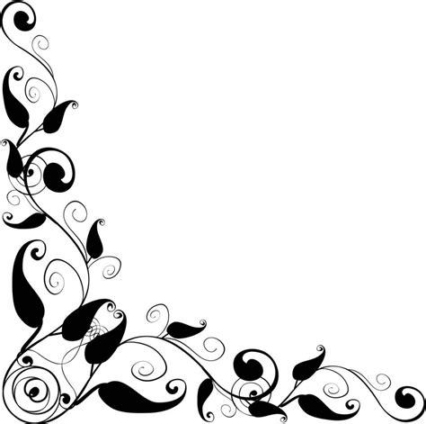 lace bordir floral design corner frame vector clipart best pattern