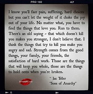 I know you'll face pain, suffering, hard choices   Them ...