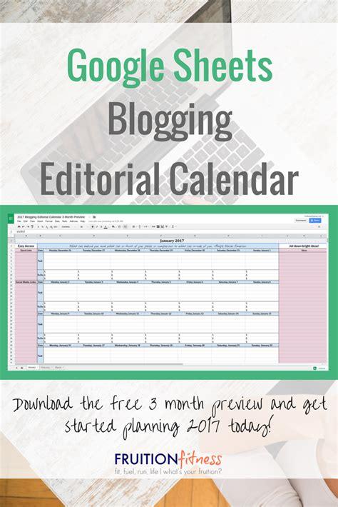 google sheets schedule sheets blogging editorial calendar fruition fitness