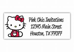 hello kitty return address labels by pinkchicinvitations With hello kitty address labels