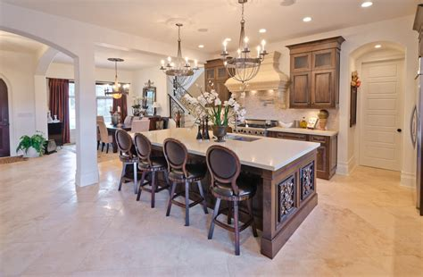 eat in kitchen island 39 fabulous eat in custom kitchen designs 7020