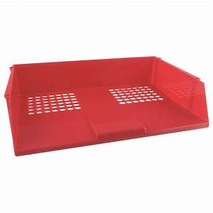 q connect red wide entry letter tray kf21691 With red letter tray