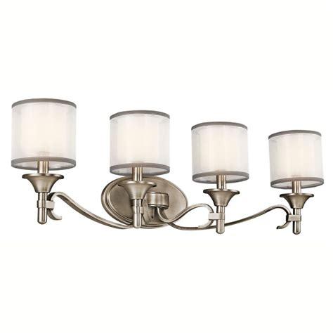4 Bulb Bathroom Light Fixtures by Kichler 45284ap Antique Pewter 31 Quot Wide 4 Bulb