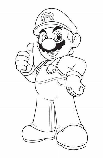 Mario Coloring Pages Super Colour Printable Bros