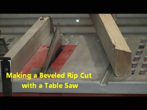 Beveled Rip Cut With A Table Saw Youtube