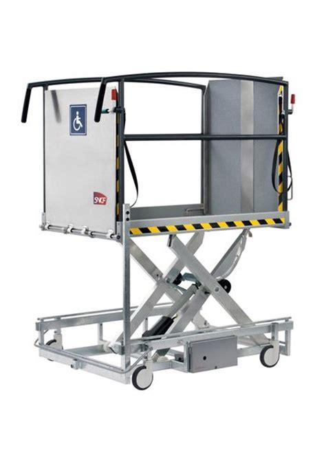 portable wheelchair access scissor lift ground