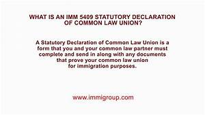 What Is An Imm 5409 Statutory Declaration Of Common Law