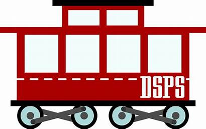 Train Clipart Wagon Passenger Caboose Cars Silhouette