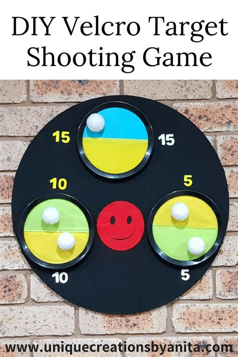 diy velcro target shooting game unique creations  anita