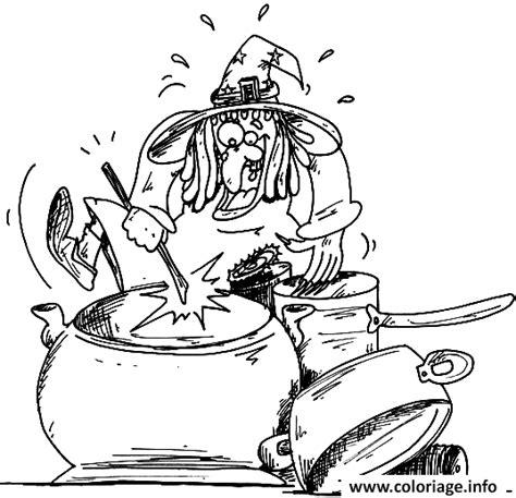dessin d une cuisine coloriage dessin d une sorciere qui cuisine dans sa