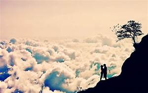 Romantic Love Clouds Wallpaper