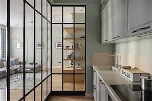 Trennwand Mit Glas : offene k che vom wohnzimmer abtrennen trennw nde im industrie look ~ Sanjose-hotels-ca.com Haus und Dekorationen