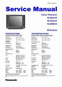 Panasonic Tx28lk1c Tx28sk1c Tx25lk1c Z8 Service Manual