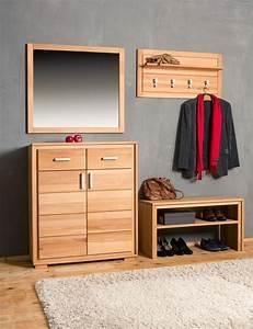Garderoben Set Massivholz : garderoben set genf v kernbuche massivholz ge lt gewachst 4 teilig ~ Whattoseeinmadrid.com Haus und Dekorationen