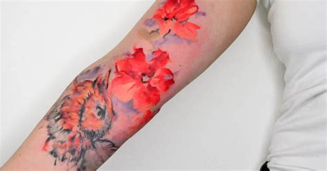 hand tattoos  watercolor hand tattoos  girls