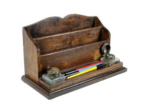 boite bureau boîte en bois bureau avec stylos et encriers cadeau pour