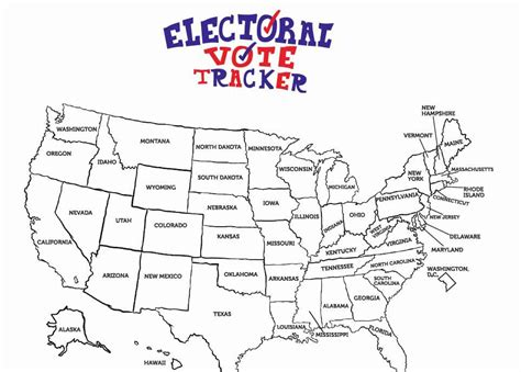 Free Electoral College Map Coloring Sheet For Kids  Passion For Savings