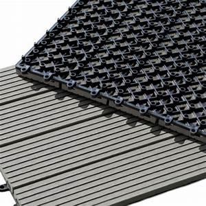 Dalle Terrasse Clipsable : dalle terrasse composite clipsable gris ~ Melissatoandfro.com Idées de Décoration
