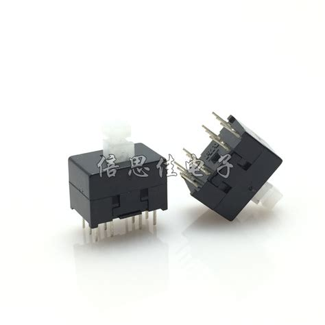 30pcs button switch 8 5x13mm self locking switch key switch 12 pin in switches from lights