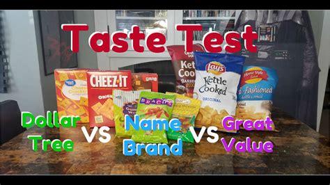 Dollar Tree Vs Name Brand Vs Great Value Taste Test Youtube