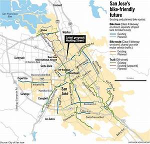 Map: San Jose bike routes, existing and planned – The ...