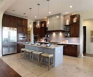 Brown kitchen cabinets modification for a stunning