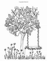 Coloring Adult Garden Coloriage Secret Elm Meditation Tree Books Relaxation Colouring Trees Calming Template Templates Jardin Printable Ladies Colorear Desenhos sketch template