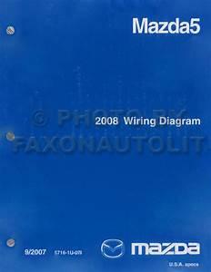 2008 Mazda 5 Repair Shop Manual Original