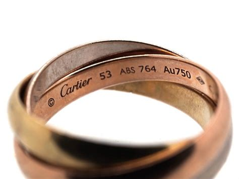 cartier three colour gold russian wedding ring the jewellery company