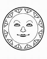 Sun Coloring Aztec Pages Sunscreen Calendar Drawing Suns Colouring Getcolorings Printable Getdrawings Moons Popular sketch template