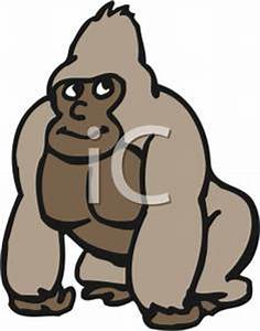 Gorilla Clipart Black And White | Clipart Panda - Free ...