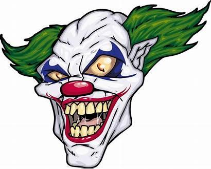 Clown Scary Clipart Joker Vector Horror Cartoon