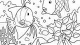 Aquarium Coloring Fish Pages Ecosystem Ocean Tank Drawing Habitat Printable Animal Getcolorings Getdrawings Drawings Pa Found Colorings sketch template