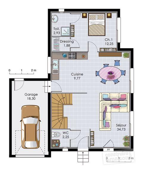 plan maison etage 2 chambres plan de maison 2 etages sans garage