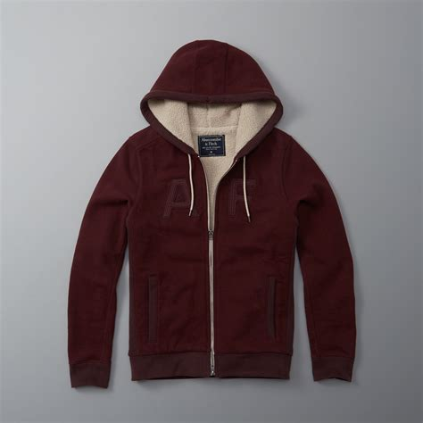 lyst abercrombie and fitch sherpa full zip hoodie for men