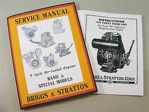 Briggs Stratton Fi Service Repair Owner Operator Operating
