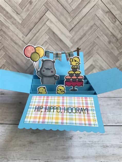 hip hippo hooray box card  images card box cards