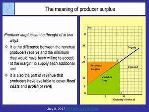 The Meaning Of Producer Surplus