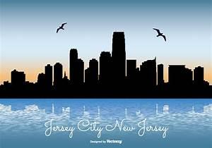 Jersey City Skyline Illustration - Download Free Vector ...