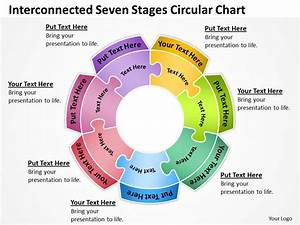 Business Process Diagram Visio Seven Stages Circular Chart