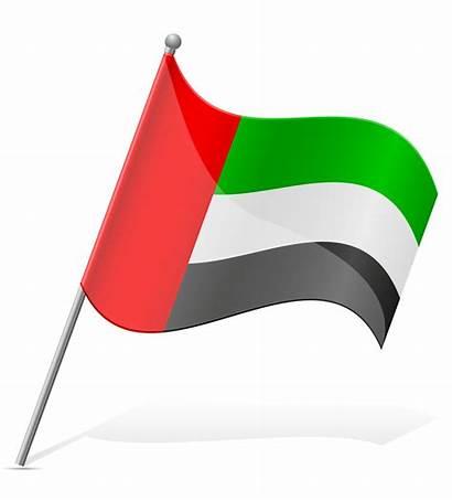 Flag Arab Emirates United Vector Illustration Serbia