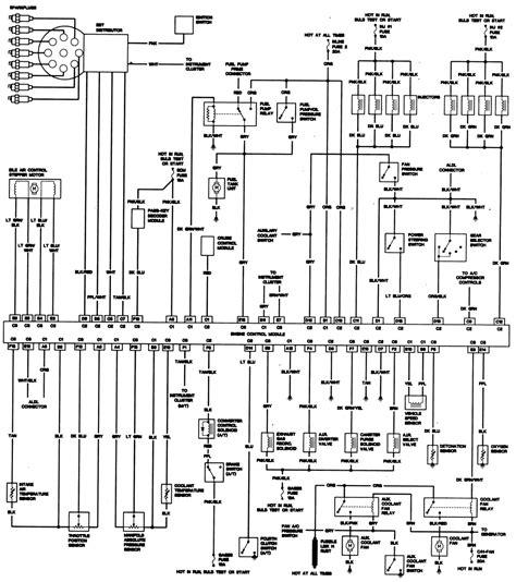 1986 Camaro Fuel Wiring Harnes Diagram by 1989 Chevy Tbi 350 Engine Wiring Diagram Wiring Library