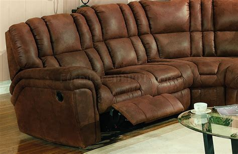 Sofa Sectional With Recliner by Brown Specially Treated Microfiber Sectional Sofa W Recliner