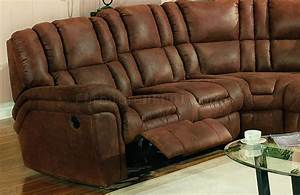 brown specially treated microfiber sectional sofa w recliner With sectional sofa w recliners