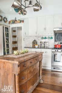farmhouse kitchen island vintage living 12 amazing repurposed storage ideas bhg style spotters