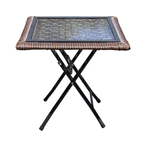 Wilson Fisher Patio Table by View Wilson Fisher 174 18 Quot Square Glass Top Resin Wicker
