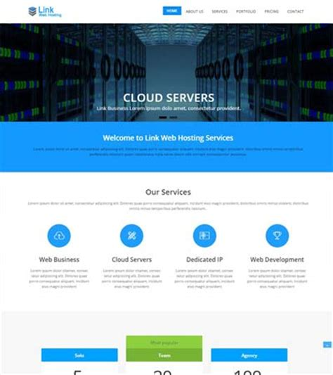 web hosting  bootstrap template  webthemez