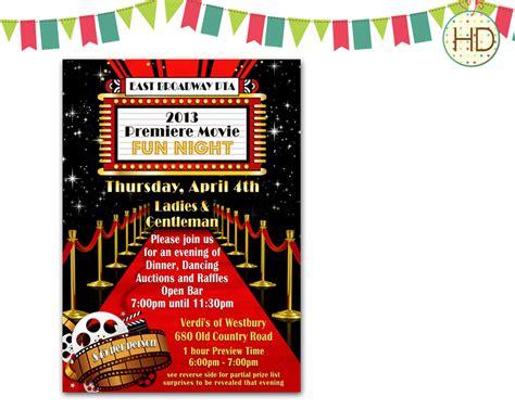 red carpet birthday party invitations  invitation